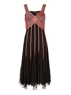 Jacques Vert Flamingo ribbon dress Black