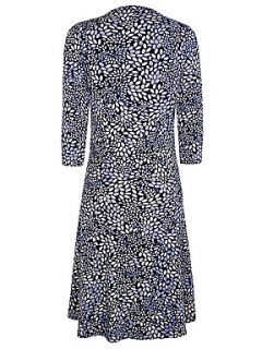Eastex Spot Printed Jersey Dress Navy