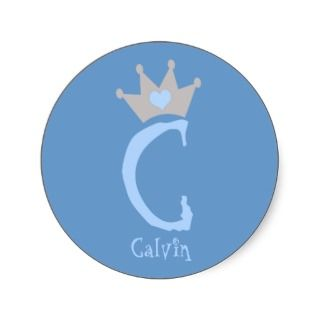 Calvin Heart Crown Stickers