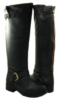 New Steve Madden Womens Lindley Black High Boots All Sz