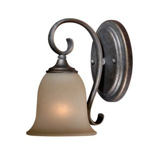 NEW 1 Light Wall Sconce Lighting Fixture, Vintage Bronze, Cream Cognac