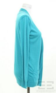 Phillip Lim Teal Blue Silk Cashmere Cardigan Size Small