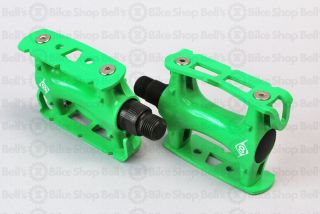 Origin 8 Track Pedals Green Fixed Gear Track New
