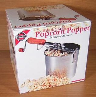New Norpro Quality Hand Crank Popcorn Popper Maker