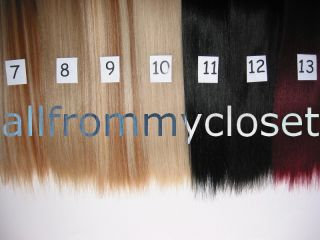 22 Blonde Black Brown Choose Color Hair Extensions