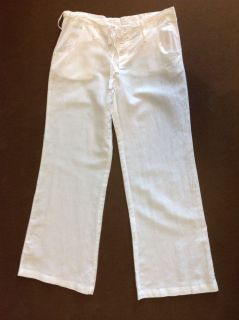 Planet Gold Linen Cloth Loose Fit Pants White Grey Gray $24 99 New