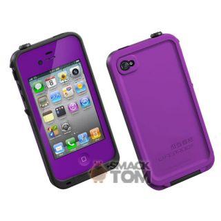 Newest Version Lifeproof Apple iPhone 4 4S Life Proof Case Purple