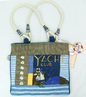 Paul Brent Beach Tote Handbag Coastal Yacht Club Lifesavers