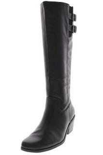 Lifestride New Somerset Black Embellished Block Heel Knee High Boots