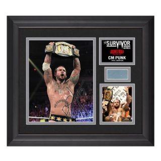 WWE Plaque cm Punk Survivor Series Signed Autograph COA Only 500 in