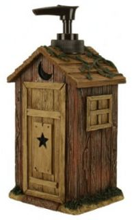 Outhouses by Linda Spivey Rustic Bathroom Accessory Soap Lotion Pump