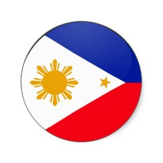 Philippines quality Flag Circle Stickers