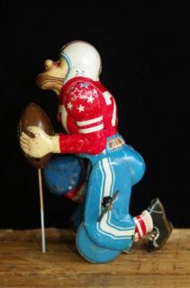 Linemar Marx Japan Tin Touchdown Pete Football Player Wind Up Toy