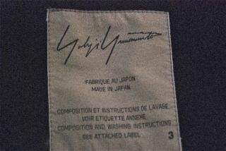 Yohji Yamamoto Highest End Black Wool Blue Denim Coat Brand New w Tags
