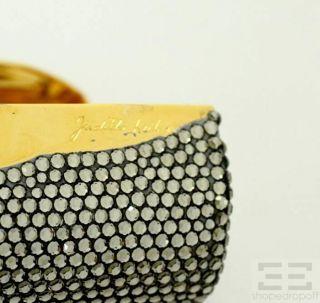 Leiber Swarovski Crystal Embellished Gold Frame Lipstick Case