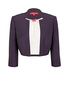 Jacques Vert Purple tulip bolero Black