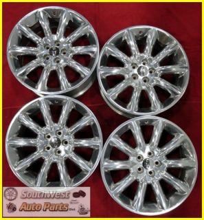 11 12 Lincoln MKT 20 Polished 10 Spoke Wheels Used Factory Rims Set