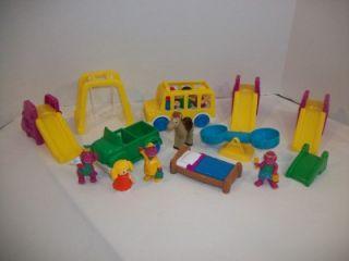 Dinosaur School House Bus + PVC Figures Replacement Play Set Playset