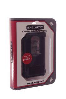 Ballistic HTC EVO 3D Hard Shell Protective Case Cover Black Gray Grey