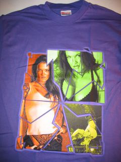 WWE Diva Lita Hot Purple Signature T Shirt Vintage