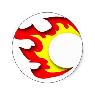 Fireball Design (flame logo) Round Stickers