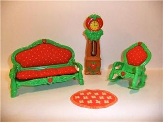 Strawberry Shortcake Berry Happy Home Living Room Furniture with Rug