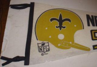1967 New Orleans Saints NFL Pennant