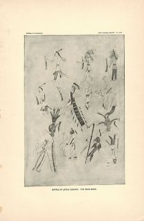 Little Big Horn Native American Indian Drawing Art Dead Sioux