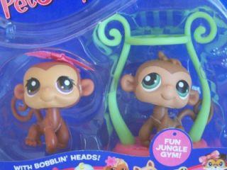 Littlest Pet Shop Monkey Twins 56 57 Retired New 2004