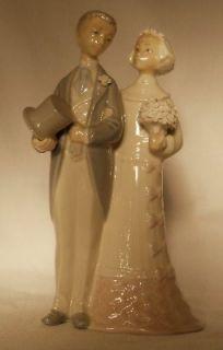 LLADRO Figurine # 4808 WEDDING   Bride & Groom   7 1/2