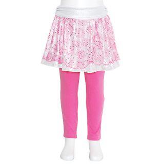 Lipstik Girls Size 10 Fuchsia Silver Dot Skirt Leggings