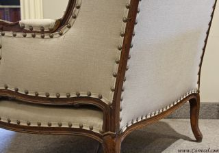 Antique French Country Bergere Living Room Chair