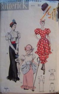 Vtg 1920s Style Bathing Suit Dress Costume Pattern S14