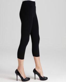 Lisse New Black 4 Way Stretch Tummy Control Capri Leggings M BHFO