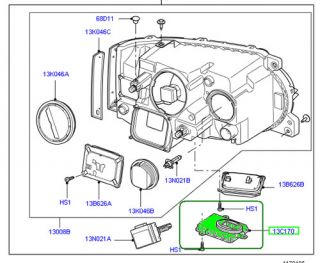 Land Rover Headlamp Ballast Headlight Range Rover 2010 and Up