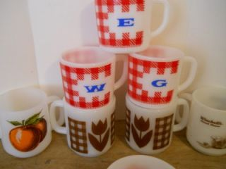 Glasbake Anchor Hocking Milk Glass, McDonalds Mugs Coffee   a little