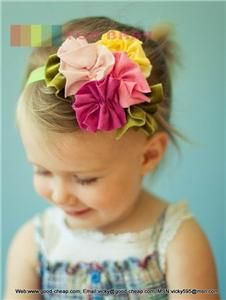 Flower Bow Headband Hair Clothing Accessories Girls Baby Infant