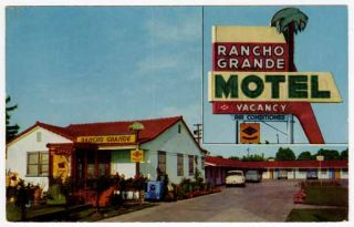 Postcard Rancho Grande Hotel in Lodi California