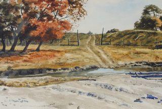Vintage Texas Landscape Painting Artist Ivan McDougal
