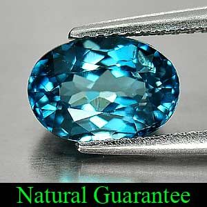 18 Ct Oval Shape Natural London Blue Topaz Gemstone Brazil