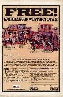 ad for Cracker Jacks, back cover ad for Lone Ranger Action Figures