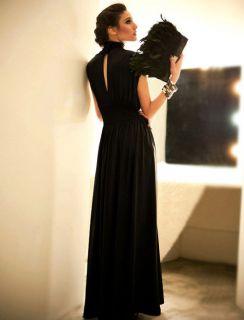 Sexy Women Choker Evening Long Maxi Dress Sleeveless Formal Gown
