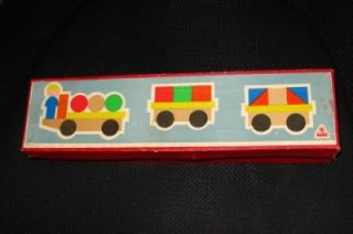 Vintage Czech Wooden Toy Train Lola Original Box