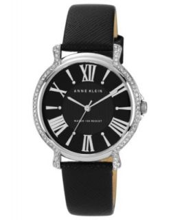 Caravelle by Bulova Watch, Womens Black Leather Strap 32mm 43L142