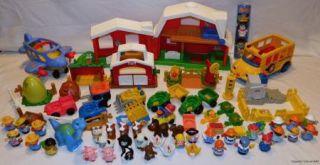 Lot Fisher Price Little People Farm Construction Dinosaur Figures