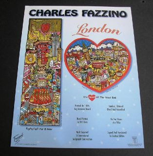 Charles Fazzino London England West End Theatre Promo