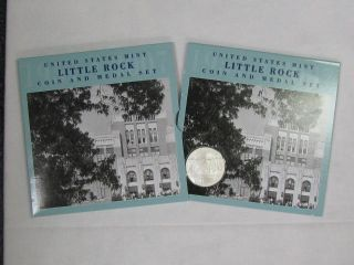 2007 P Uncirculated Little Rock Silver Dollar Coin and Medal Set