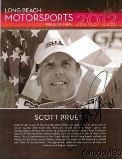 2012 Scott Pruett Signed Long Beach Grand Prix Walk of Fame Indy Car