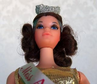 Vintage Barbie 1972 Miss America Doll Walk Lively