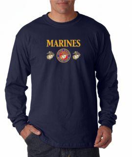 Marine Corps Military Long Sleeve Tee Shirt